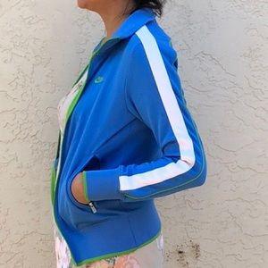 Nike Women's Blue Green White Tracksuit zip jacket